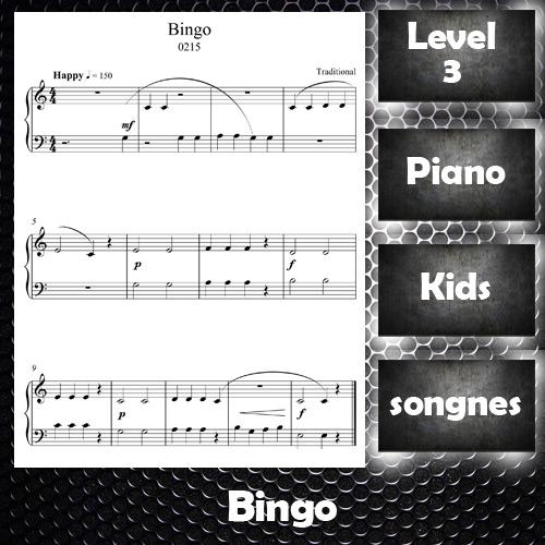 Thumb Nail Bingo Children Piano Song